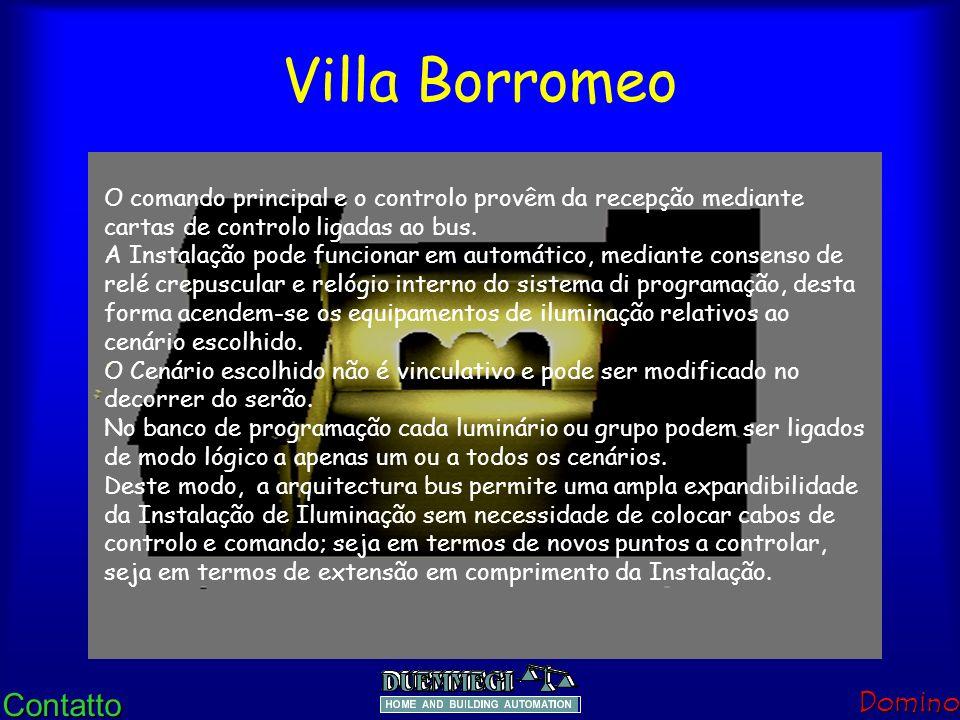 ContattoDomino Villa Borromeo No que diz respeito às indicações sugeridas no Guia CEI 83-11 Os Sistenas BUS nos edifícios adequam-se à preservação his