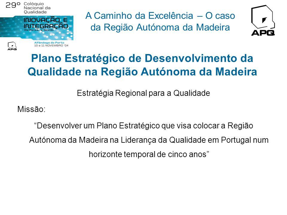 A Caminho da Excelência – O caso da Região Autónoma da Madeira Acções de melhoria a implementar no âmbito da candidatura á EFQM Acção de Melhoria 1: D