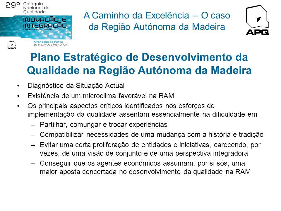 A Caminho da Excelência – O caso da Região Autónoma da Madeira Estratégia Regional para a Qualidade Missão: Desenvolver um Plano Estratégico que visa