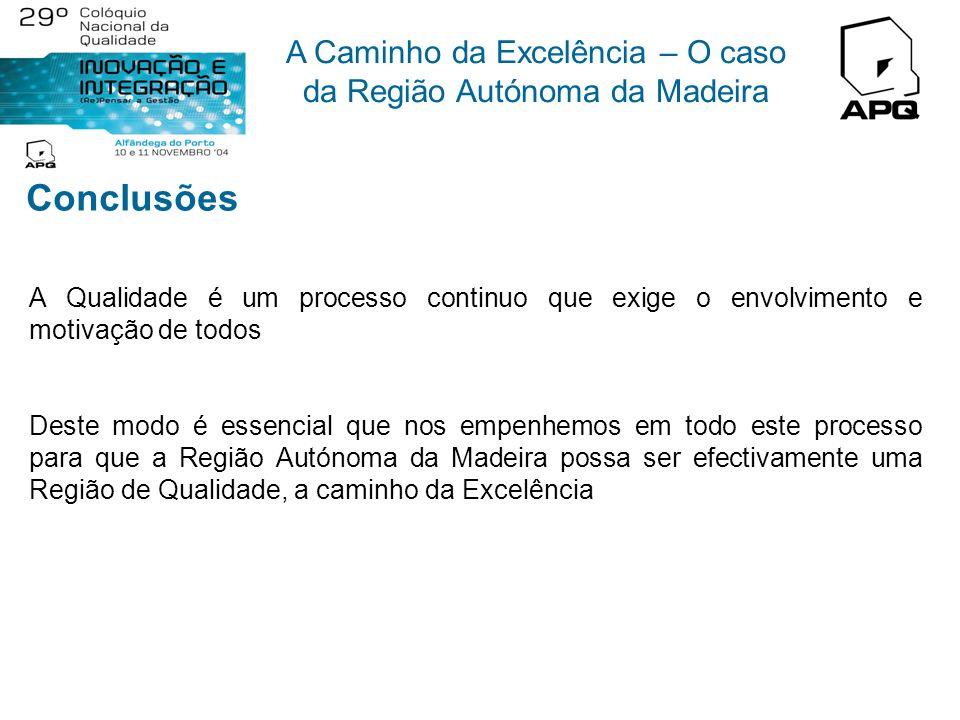 A Caminho da Excelência – O caso da Região Autónoma da Madeira A RAM possui condições ímpares para se continuar a afirmar através de um modelo de dese