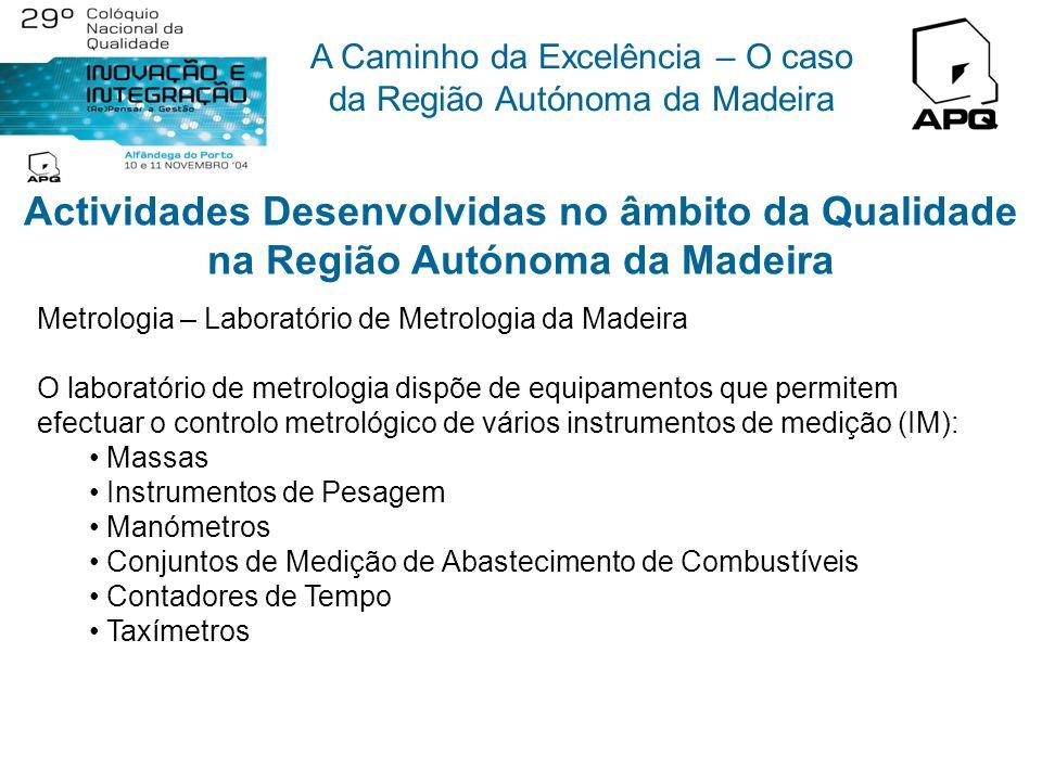 A Caminho da Excelência – O caso da Região Autónoma da Madeira Actividades Desenvolvidas no âmbito da Qualidade na Região Autónoma da Madeira Conselho
