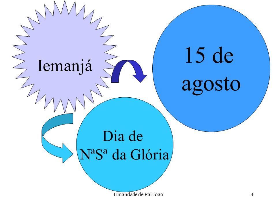 Irmandade de Pai João4 Dia de NªSª da Glória 15 de agosto Iemanjá