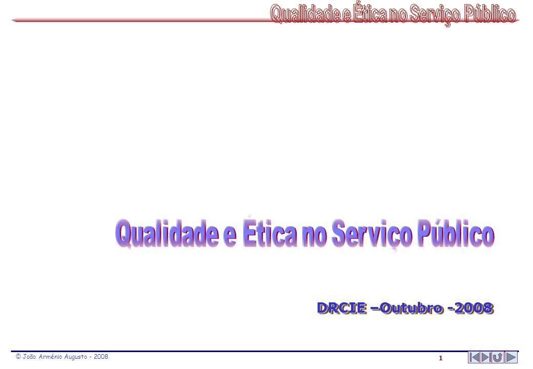 2 © João Arménio Augusto - 2008 Qualidade nos Serv.
