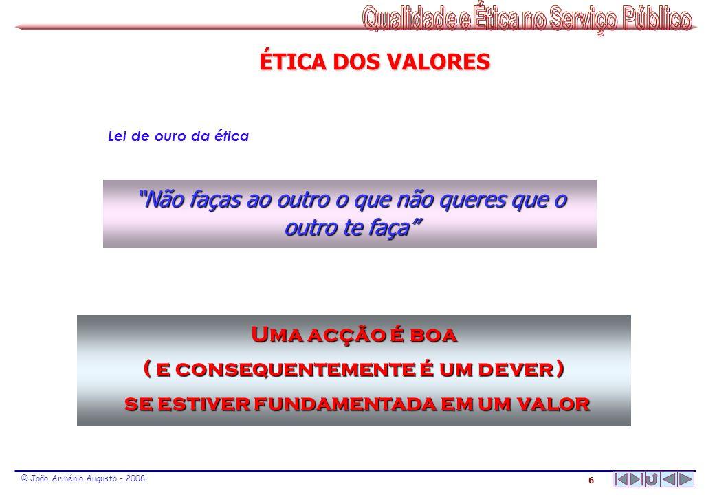 17 © João Arménio Augusto - 2008 EMOÇÕES - EMOÇÕES - INATAS NA PERSONALIDADE »» CRIANÇA NATURAL «« EMOÇÕES - EMOÇÕES - INATAS NA PERSONALIDADE »» CRIANÇA NATURAL «« medo - raiva - tristeza - alegria - afecto P A C preconceitos, chavões crenças, normas devido a regras de conduta preconceitos, chavões crenças, normas devido a regras de conduta computação, pensamento raciocínio, ponderação previsão computação, pensamento raciocínio, ponderação previsão sentimentos, emoções medos, alegrias, manifestações espontâneas, frustrações sentimentos, emoções medos, alegrias, manifestações espontâneas, frustrações ESTADOS DO EU – ANÁLISE ESTRUTURAL Eric Berne ENSINADO Um conceito ENSINADO de vida PROCESSADO Um conceito PROCESSADO de vida SENTIDO Um conceito SENTIDO de vida