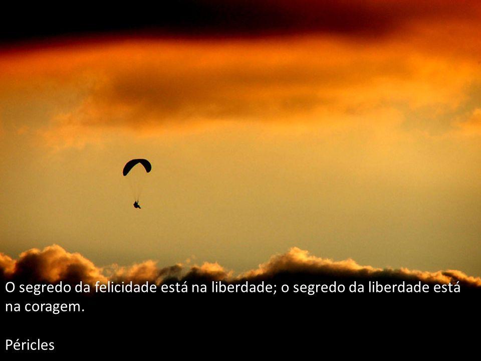 O segredo da felicidade está na liberdade; o segredo da liberdade está na coragem. Péricles
