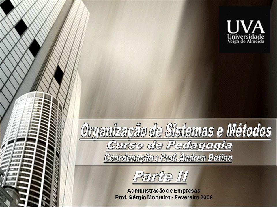 Administração de Empresas Prof. Sérgio Monteiro - Fevereiro 2008