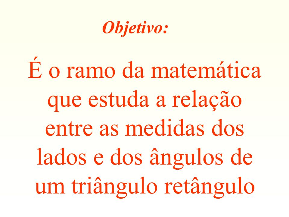 b) Cateto adjacente ao ângulo de 30º x 500 m hipotenusa y Cateto oposto ao ângulo de 30º 30º y 500 m
