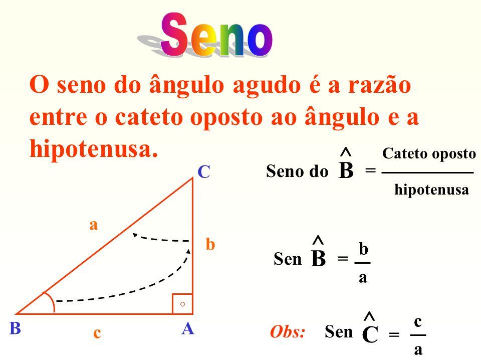 c =c = c = 8,77 m Sen 20º = 0,342 c = 0,342 c = 3 O comprimento da rampa é de 8,77 m.