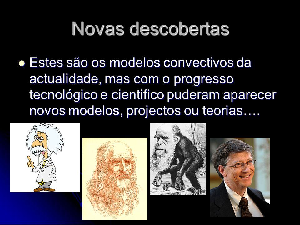 Novas descobertas Estes são os modelos convectivos da actualidade, mas com o progresso tecnológico e cientifico puderam aparecer novos modelos, projec