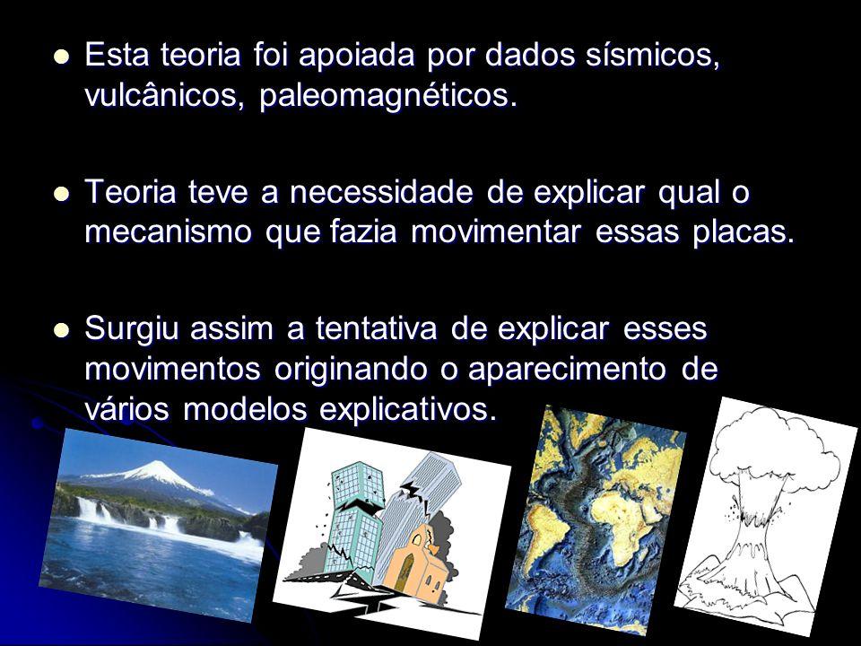 Esta teoria foi apoiada por dados sísmicos, vulcânicos, paleomagnéticos. Esta teoria foi apoiada por dados sísmicos, vulcânicos, paleomagnéticos. Teor