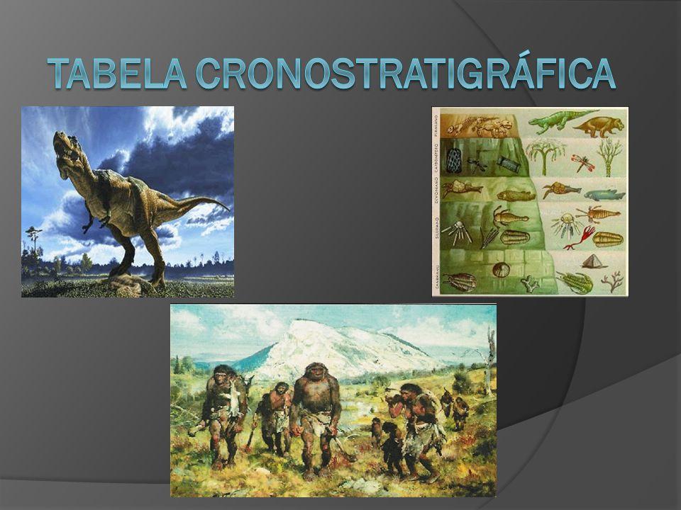 Após a observação da tabela, podemos concluir que as unidades cronostratigráficas e as geocronológicas apresentam uma relação, ou seja, para cada unidade cronostratigráfica existe uma unidade geocronológica correspondente.