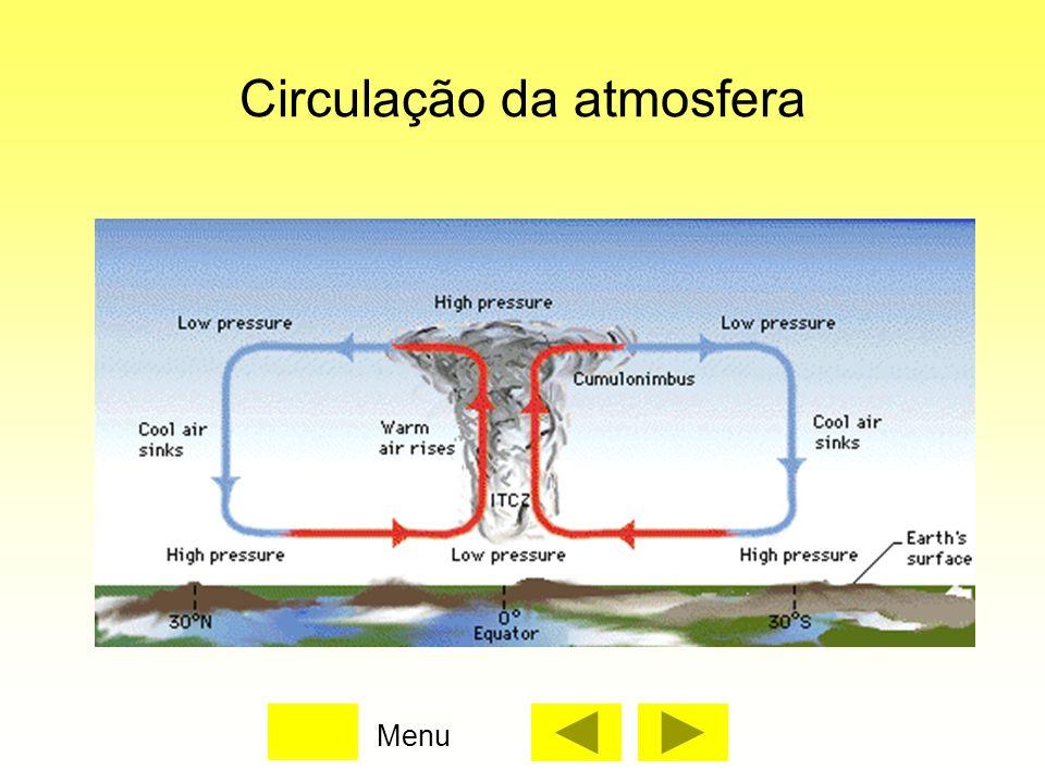 Circulação da atmosfera Menu