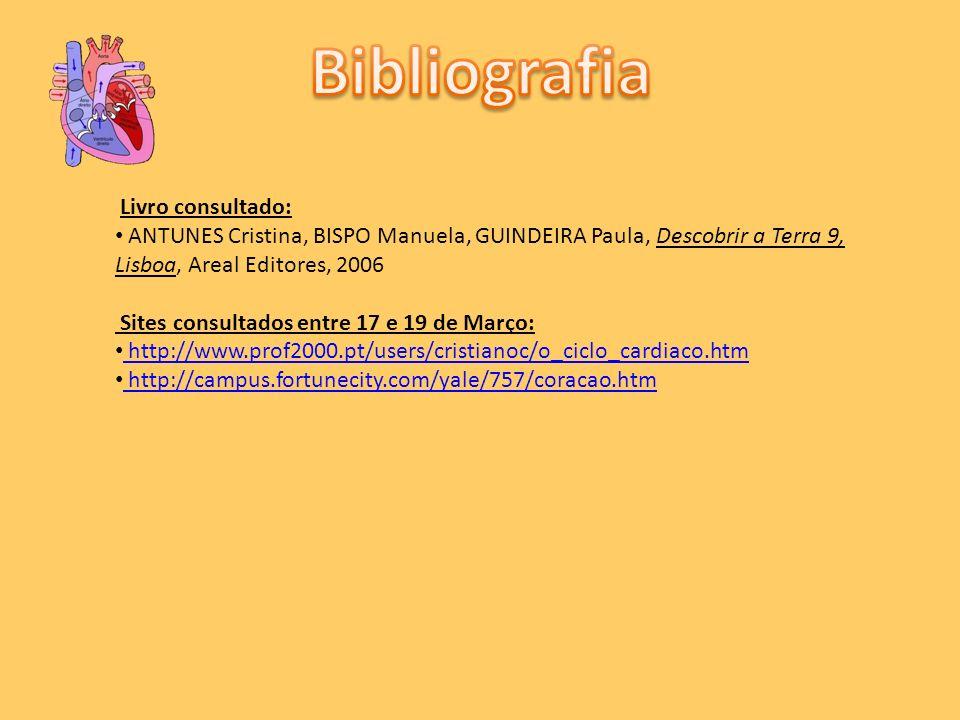 Livro consultado: ANTUNES Cristina, BISPO Manuela, GUINDEIRA Paula, Descobrir a Terra 9, Lisboa, Areal Editores, 2006 Sites consultados entre 17 e 19