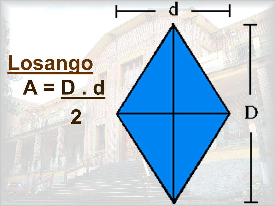 Paralelogramo A = a. h