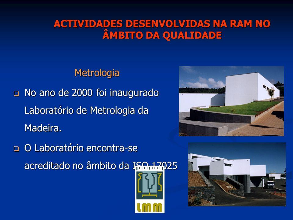 Laboratórios acreditados Laboratórios acreditados LREC LREC Lab.– IVM Lab.– IVM Laboratório Metrologia da Madeira (LMM) Laboratório Metrologia da Madeira (LMM) Laboratórios em processo de acreditação Laboratórios em processo de acreditação Laboratórios de Cimentos Madeira Laboratórios de Cimentos Madeira Laboratório de análises clínicas Dr.