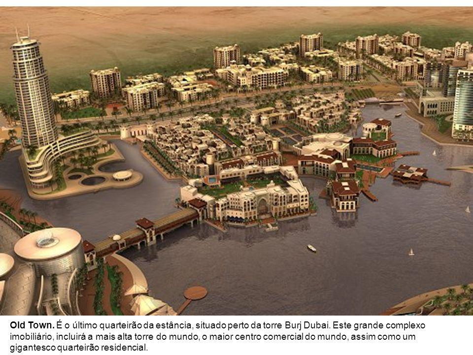 The World.Ao largo de Dubaï, mais de 300 ilhas artificiais, vistas do céu, formam um planisfério.