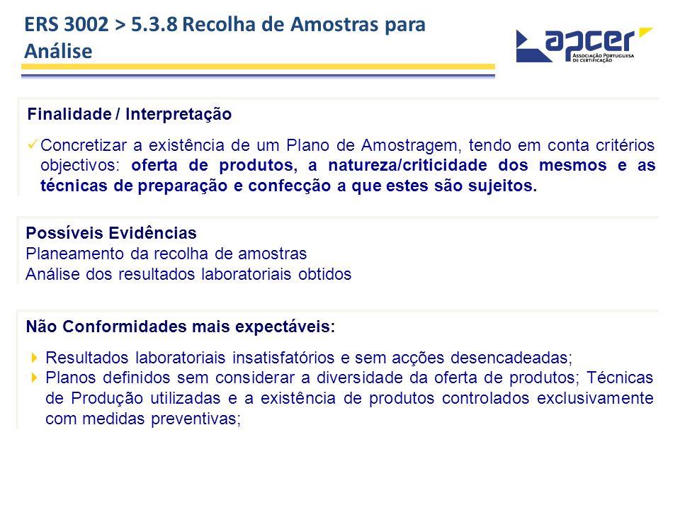Finalidade / Interpretação Concretizar a existência de um Plano de Amostragem, tendo em conta critérios objectivos: oferta de produtos, a natureza/cri