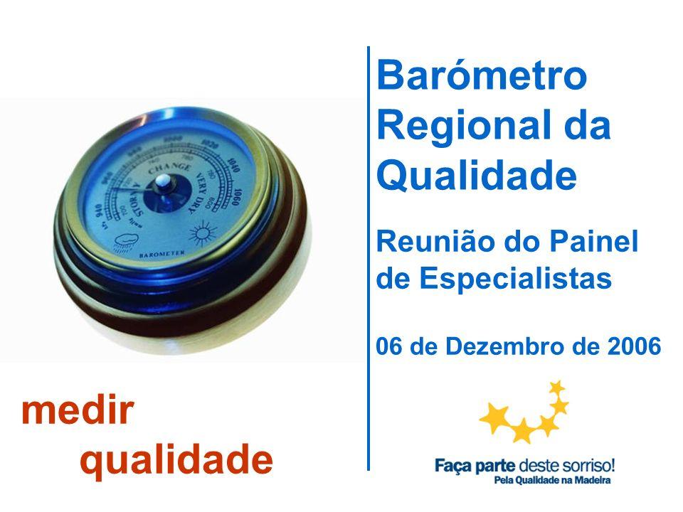 Barómetro Regional da Qualidade Reunião do Painel de Especialistas 06 de Dezembro de 2006 medir qualidade