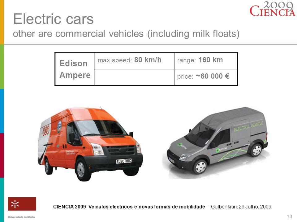 CIENCIA 2009 Veículos eléctricos e novas formas de mobilidade – Gulbenkian, 29 Julho, 2009 13 Electric cars other are commercial vehicles (including m