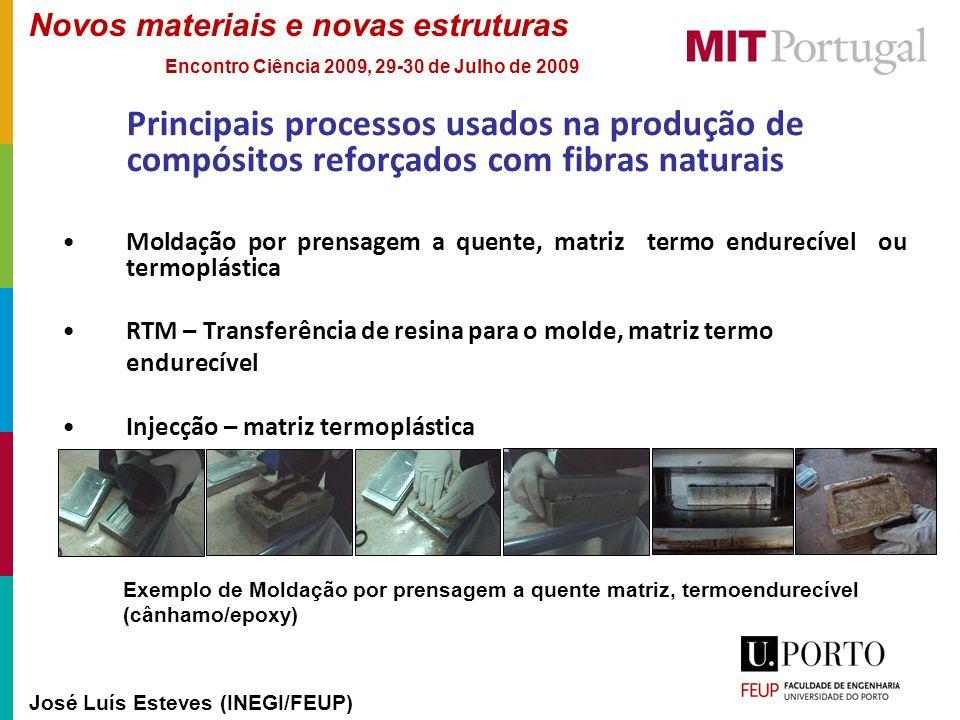 Novos materiais e novas estruturas José Luís Esteves (INEGI/FEUP) Encontro Ciência 2009, 29-30 de Julho de 2009 Principais processos usados na produçã