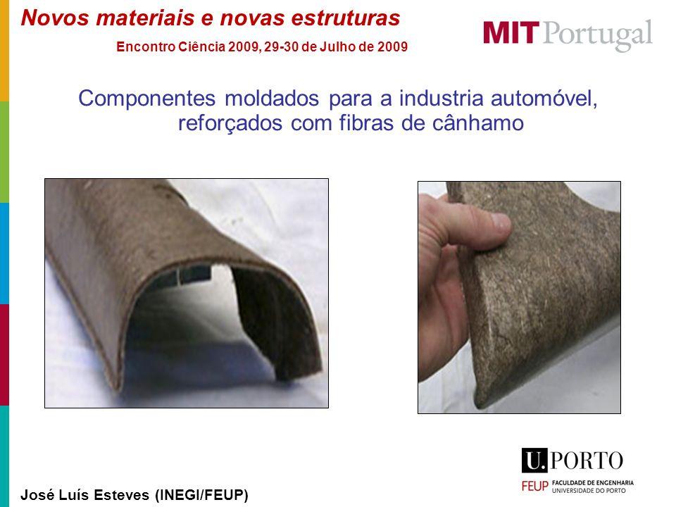 Novos materiais e novas estruturas José Luís Esteves (INEGI/FEUP) Encontro Ciência 2009, 29-30 de Julho de 2009 Componentes moldados para a industria