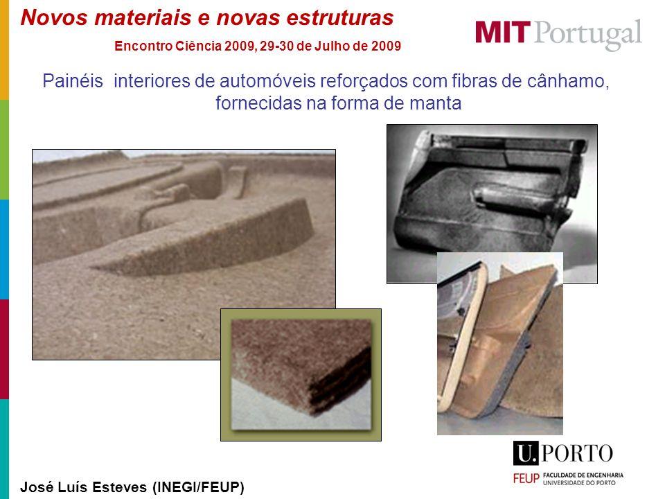 Novos materiais e novas estruturas José Luís Esteves (INEGI/FEUP) Encontro Ciência 2009, 29-30 de Julho de 2009 Painéis interiores de automóveis refor