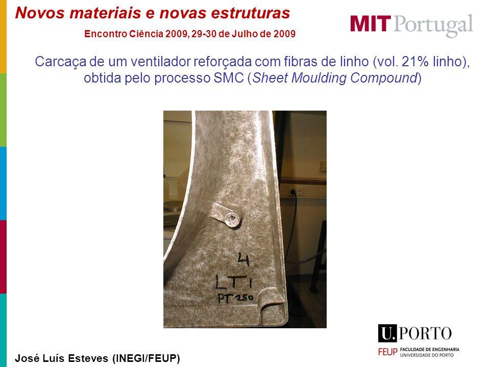 Novos materiais e novas estruturas José Luís Esteves (INEGI/FEUP) Encontro Ciência 2009, 29-30 de Julho de 2009 Carcaça de um ventilador reforçada com