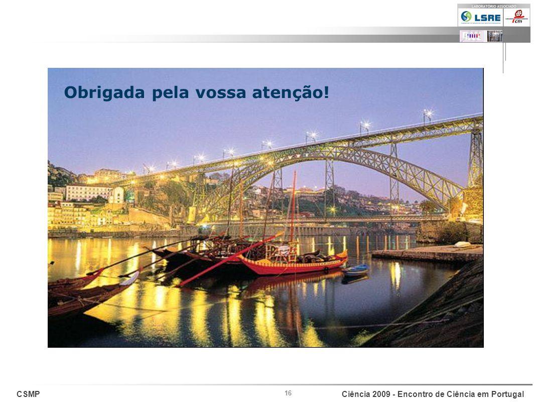 CSMPCiência 2009 - Encontro de Ciência em Portugal 16 Obrigada pela vossa atenção!