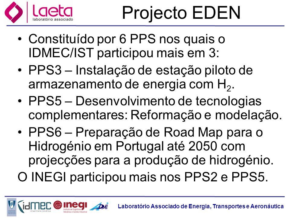 Laboratório Associado de Energia, Transportes e Aeronáutica Projecto EDEN Constituído por 6 PPS nos quais o IDMEC/IST participou mais em 3: PPS3 – Ins