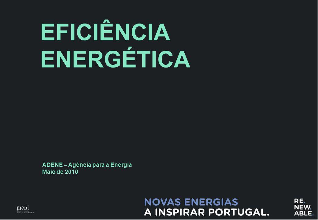 0 EFICIÊNCIA ENERGÉTICA ADENE – Agência para a Energia Maio de 2010