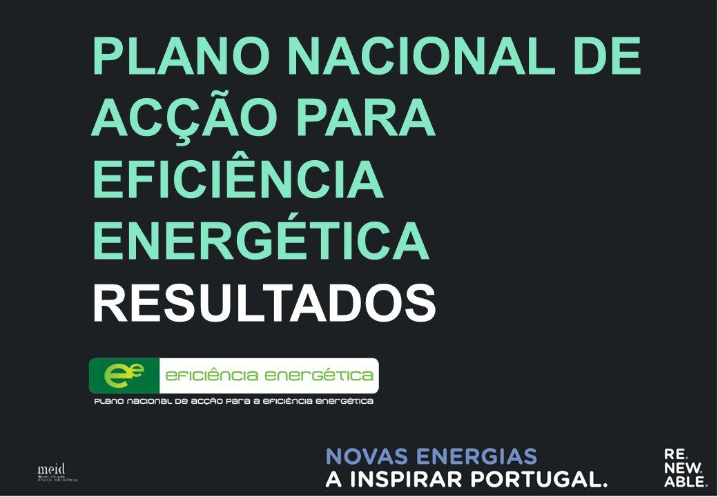 1 PLANO NACIONAL DE ACÇÃO PARA EFICIÊNCIA ENERGÉTICA RESULTADOS