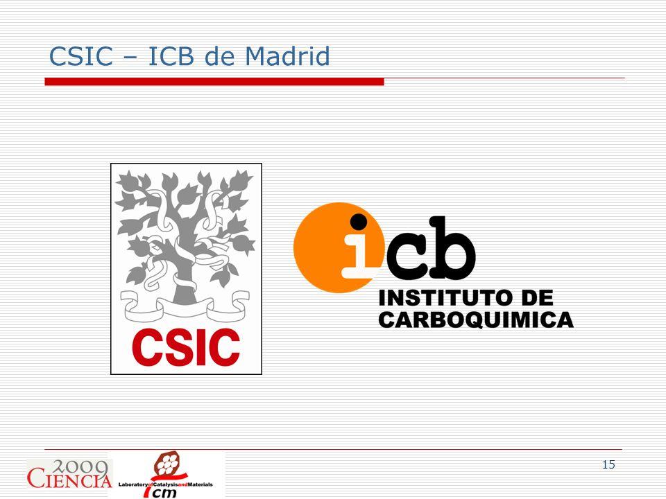 15 CSIC – ICB de Madrid