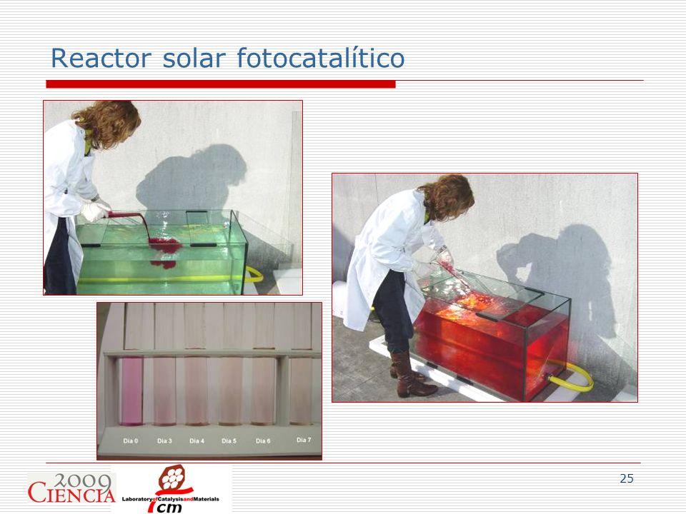 25 Reactor solar fotocatalítico
