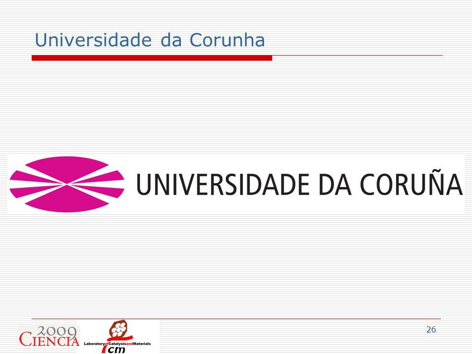 26 Universidade da Corunha