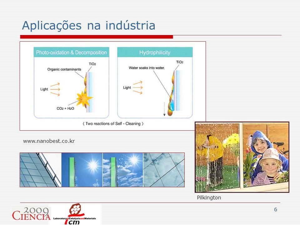 6 Aplicações na indústria www.nanobest.co.kr Pilkington