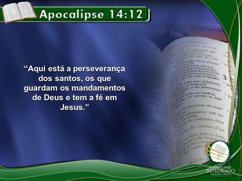 Aqui está a perseverança dos santos, os que guardam os mandamentos de Deus e tem a fé em Jesus.