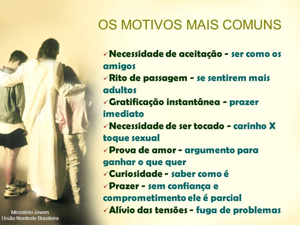 Ministério Jovem União Nordeste Brasileira Inseguros com a aparência; Desejam provar quem são; Mais impulsivos do que pensativos; Pouco interesse nos