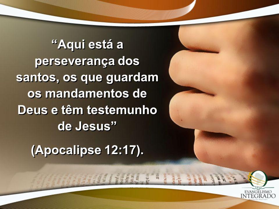 Aqui está a perseverança dos santos, os que guardam os mandamentos de Deus e têm testemunho de Jesus (Apocalipse 12:17). Aqui está a perseverança dos