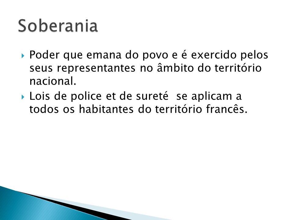 Poder que emana do povo e é exercido pelos seus representantes no âmbito do território nacional.