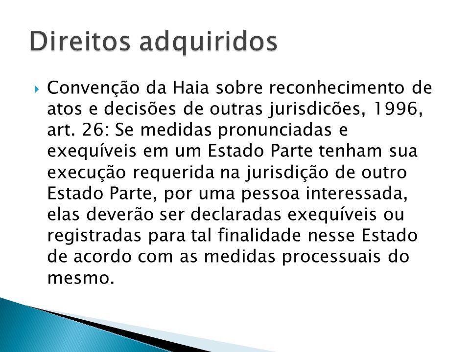 Convenção da Haia sobre reconhecimento de atos e decisões de outras jurisdicões, 1996, art.