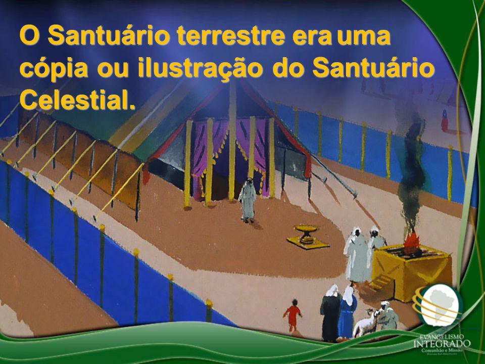 O Santuário terrestre era uma cópia ou ilustração do Santuário Celestial.