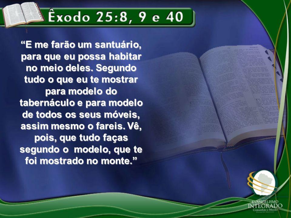 3º - LUGAR SANTÍSSIMO Arca e Propiciatório (Maná, Vara de Arão e Santa Lei) – Êxodo 25:21-22