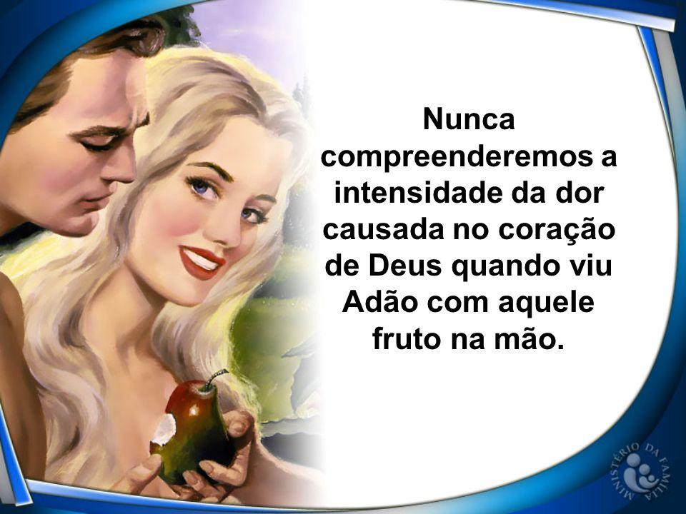 Nunca compreenderemos a intensidade da dor causada no coração de Deus quando viu Adão com aquele fruto na mão.