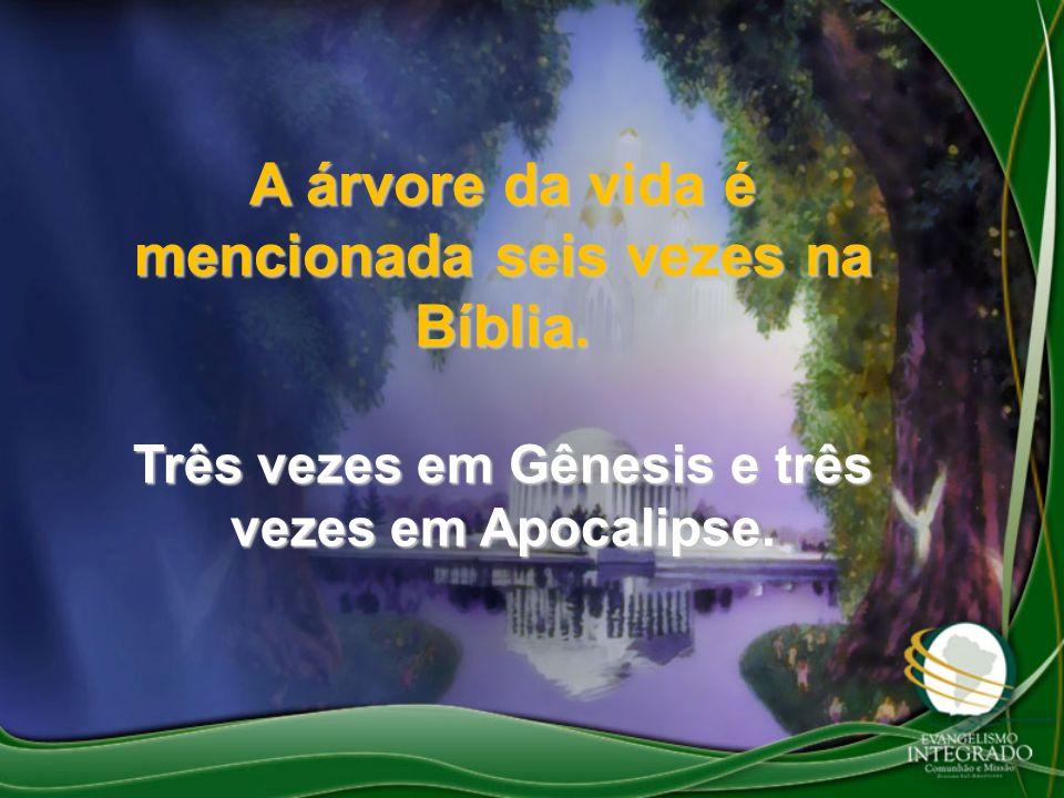 A árvore da vida é mencionada seis vezes na Bíblia. Três vezes em Gênesis e três vezes em Apocalipse.