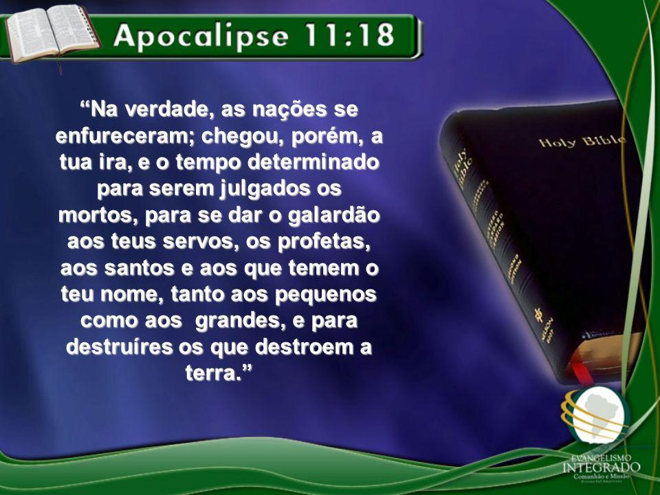 Na verdade, as nações se enfureceram; chegou, porém, a tua ira, e o tempo determinado para serem julgados os mortos, para se dar o galardão aos teus s