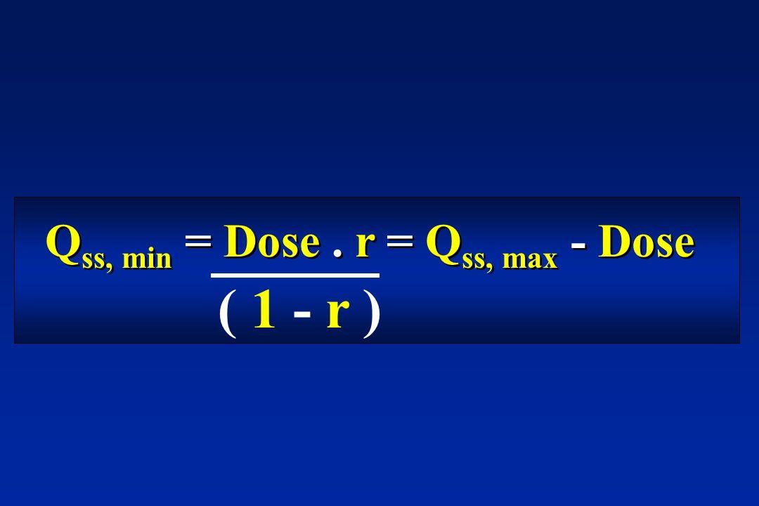 Q ss, min = Dose. r = Q ss, max - Dose ( 1 - r )