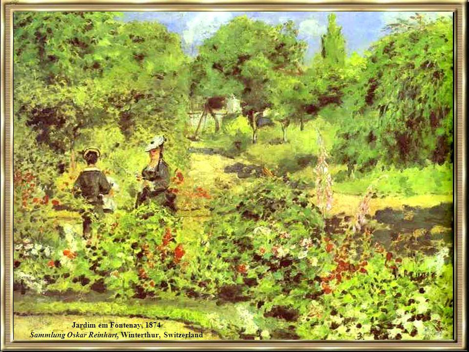 Jardim em Fontenay, 1874 Sammlung Oskar Reinhart, Winterthur, Switzerland