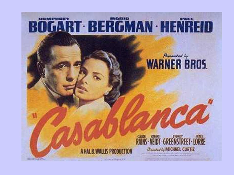 1942 Um ano marcante na carreira da atriz e na história do cinema. O lançamento do filme Casablanca cujo roteiro foi recusado por inúmeros diretores e
