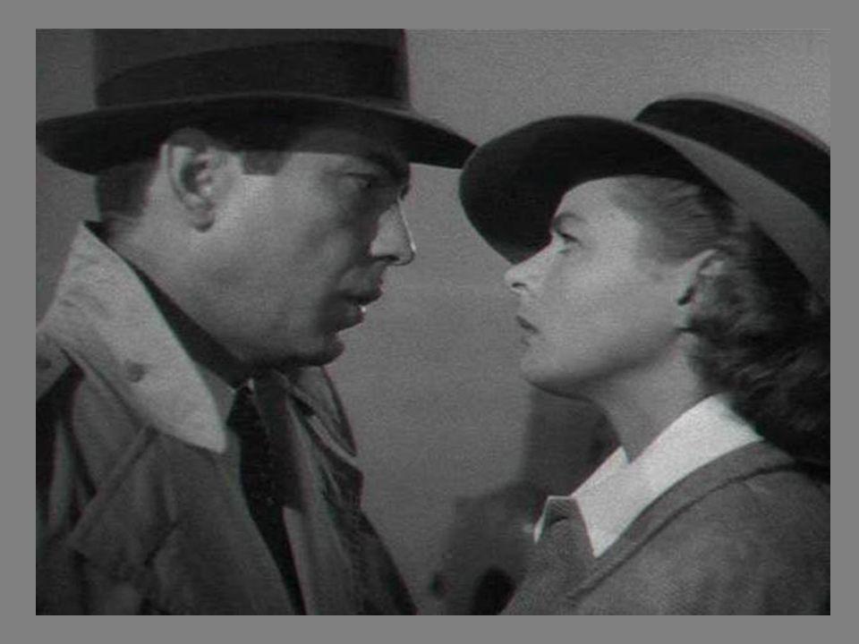 Bogart e Ingrid numa seqüencia de fotos do filme Casablanca