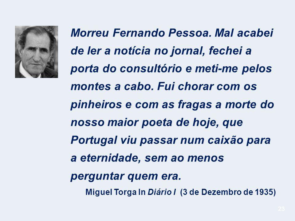 23 Morreu Fernando Pessoa.